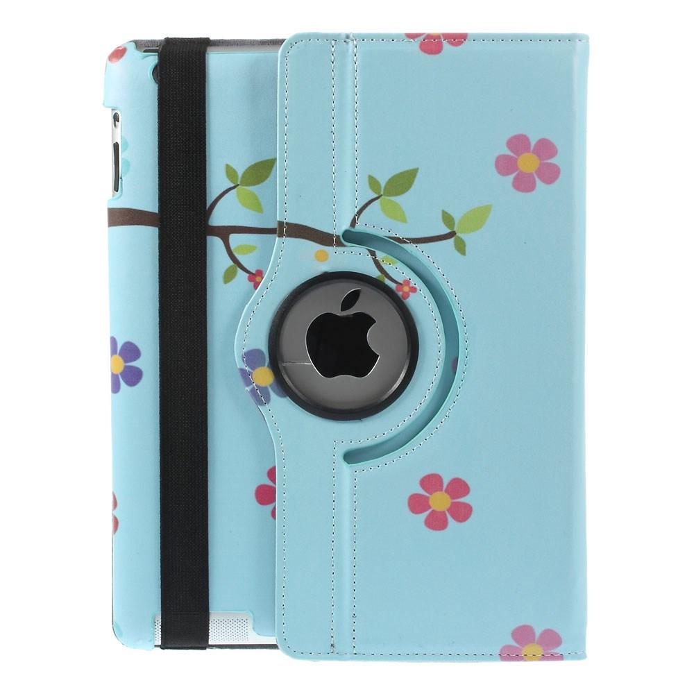 iPad 2/3/4 hoesje - Blue Flower Owl - PhoneJunkie