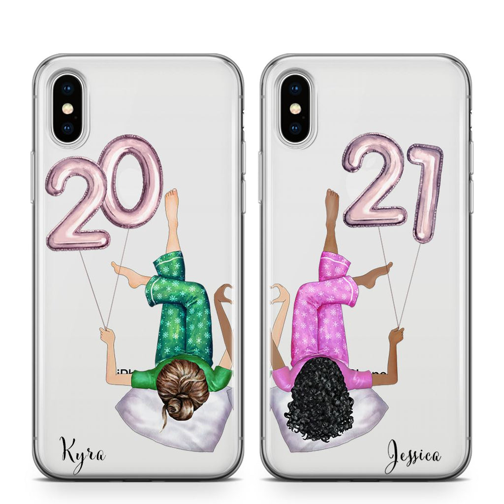 New Years Babes - BFF Transparant Naamhoesjes Custom Clear Cases PhoneJunkie