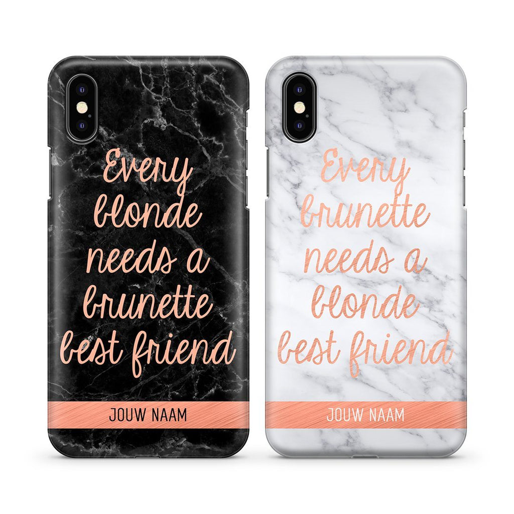 BFF hoesjes - Blonde & Brunette Love - PhoneJunkie