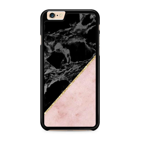 Black/Pink Marble & Gold hoesje