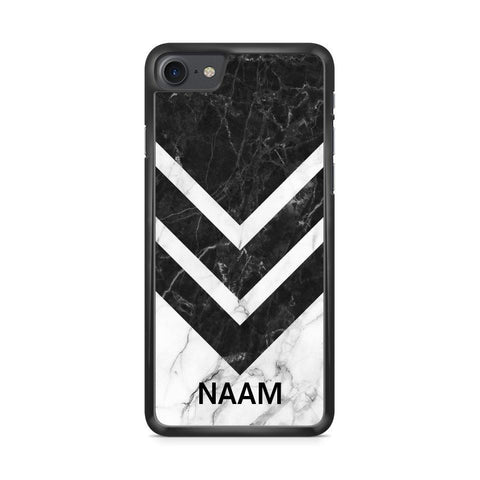 Custom Naam White Marble Palms