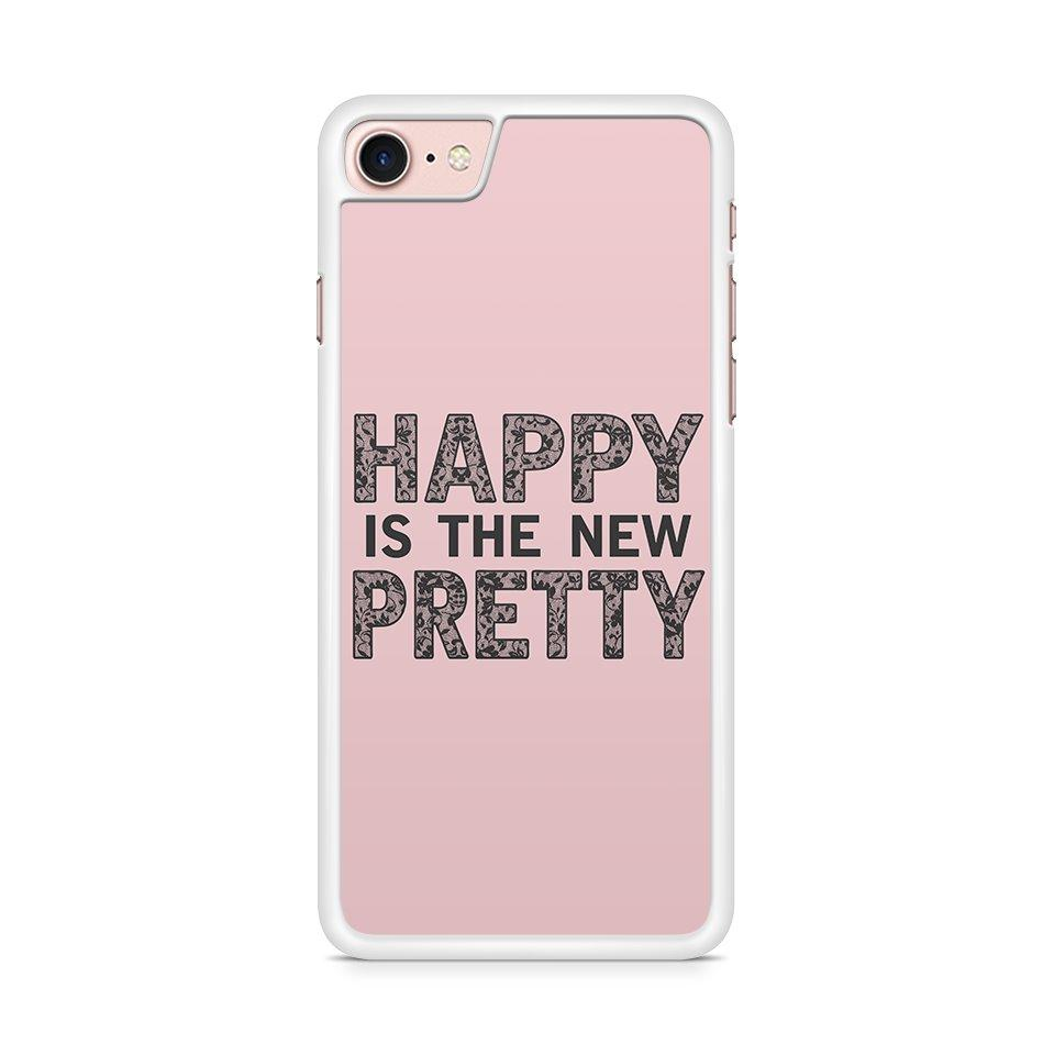 Happy is the new Pretty hoesje - PhoneJunkie - telefoonhoesje - naamhoesje - personaliseren