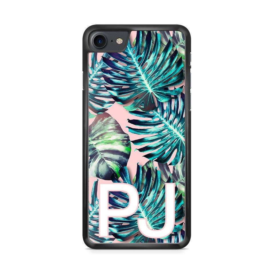 Custom Initialen Pink Tropical hoesje - PhoneJunkie