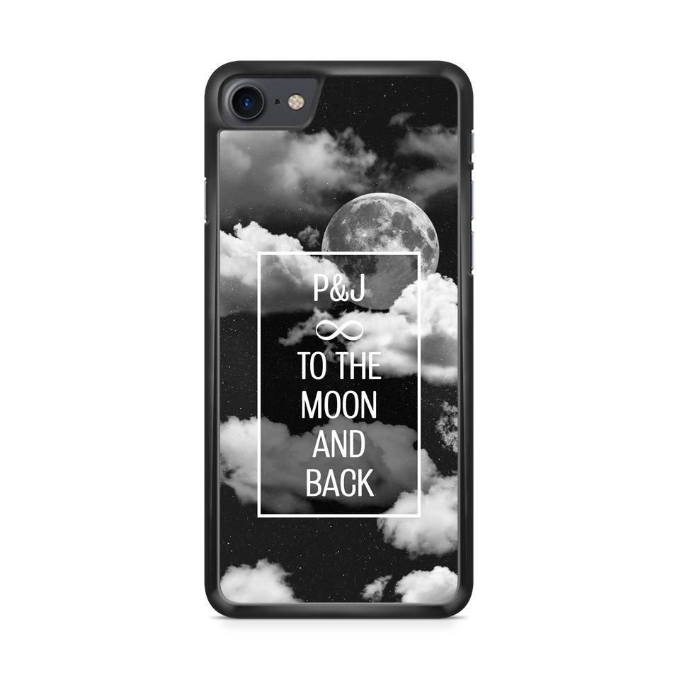 Custom Initialen Moon Clouds hoesje - PhoneJunkie