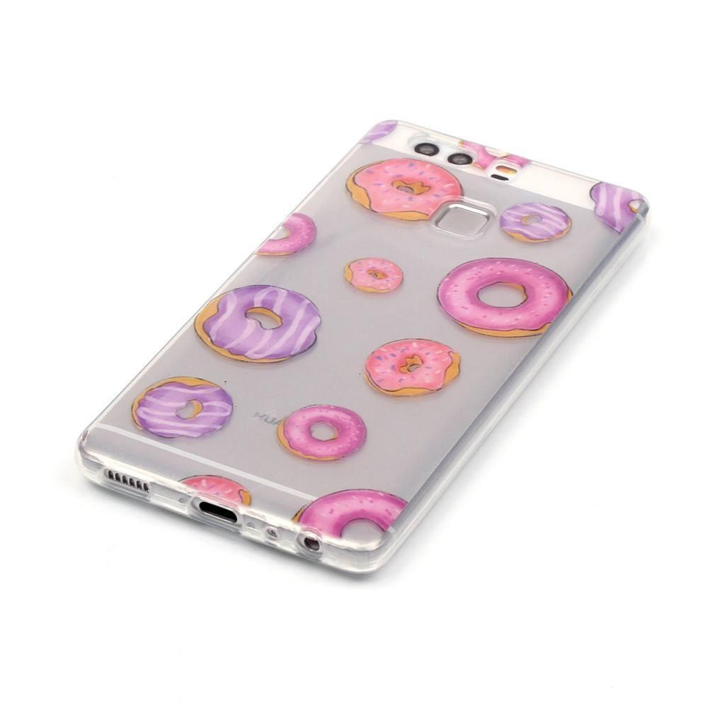 Huawei P9 - Donuts Transparant hoesje - PhoneJunkie