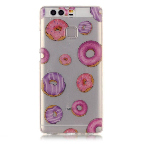 Huawei P9 - Donuts Transparant hoesje