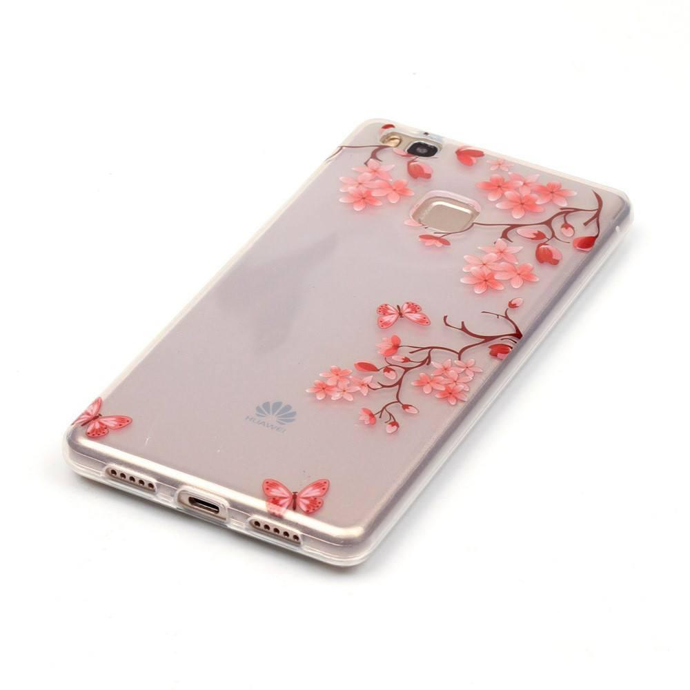 Huawei P9 Lite - Red Blossom Transparant hoesje