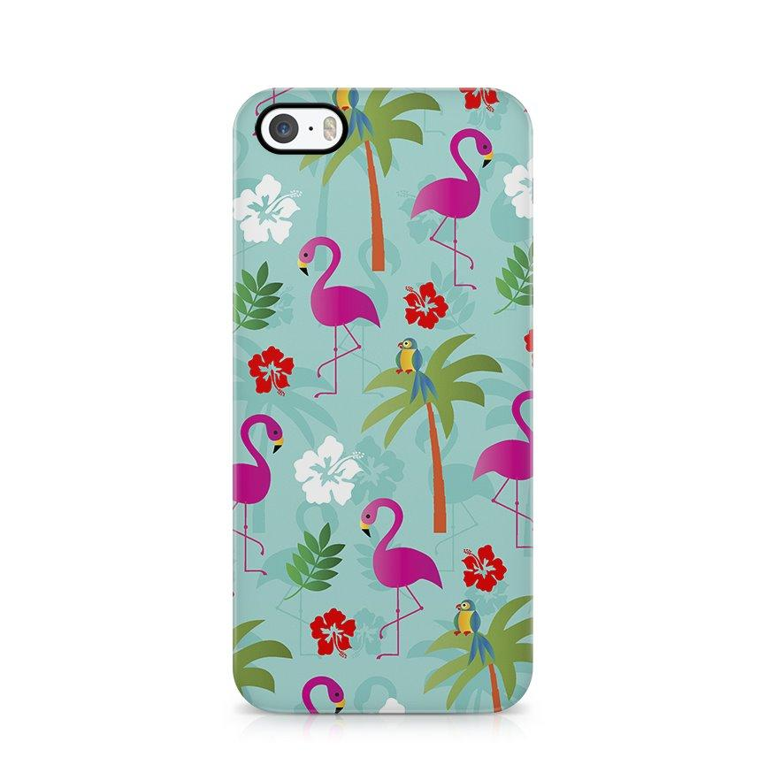 iPhone 5/5s hoesje - Flamingo tropical - PhoneJunkie
