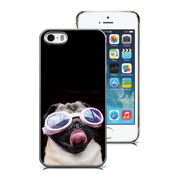 iPhone 5/5S hoesje - Doggy Glasses Deluxe - PhoneJunkie