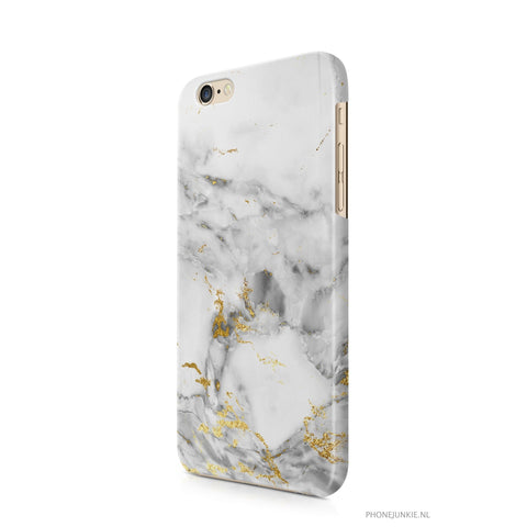 iPhone 6/6s hoesje - Grey Gold Marble