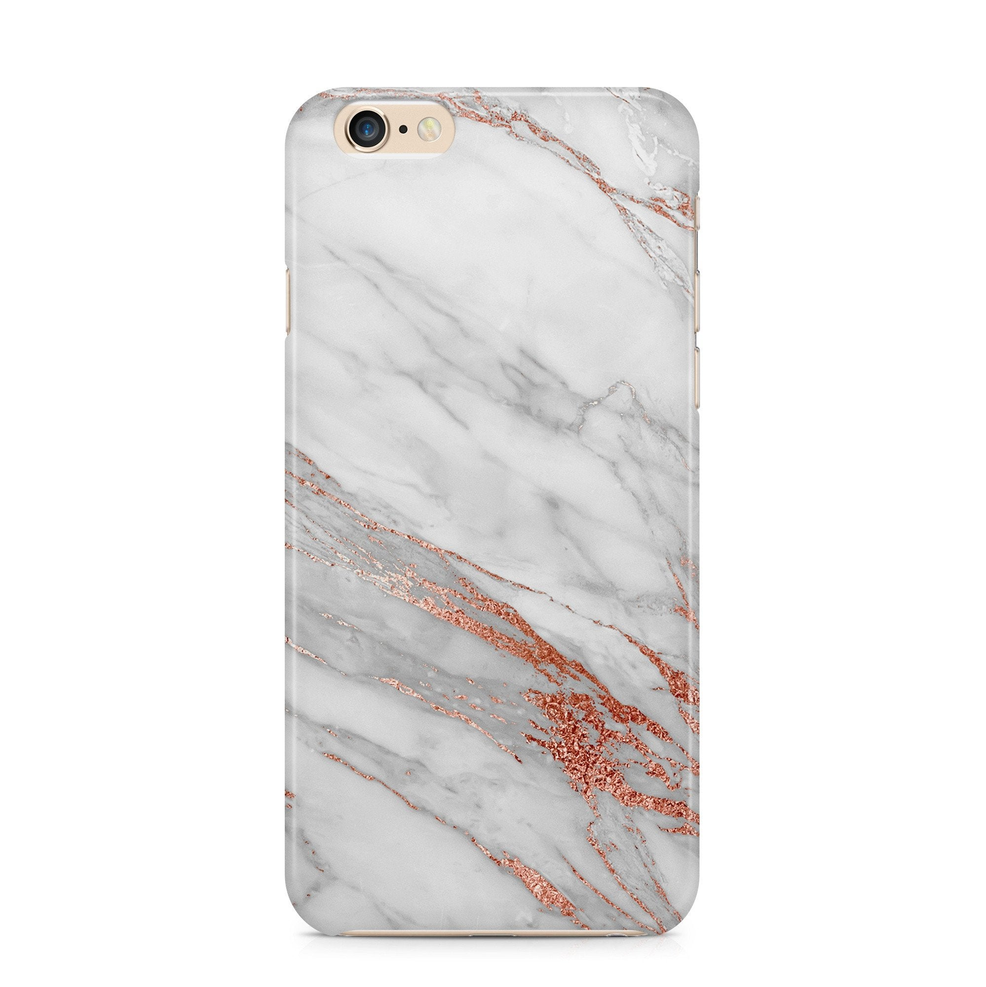 iPhone 6/6s hoesje -  Rosé Gold Marble
