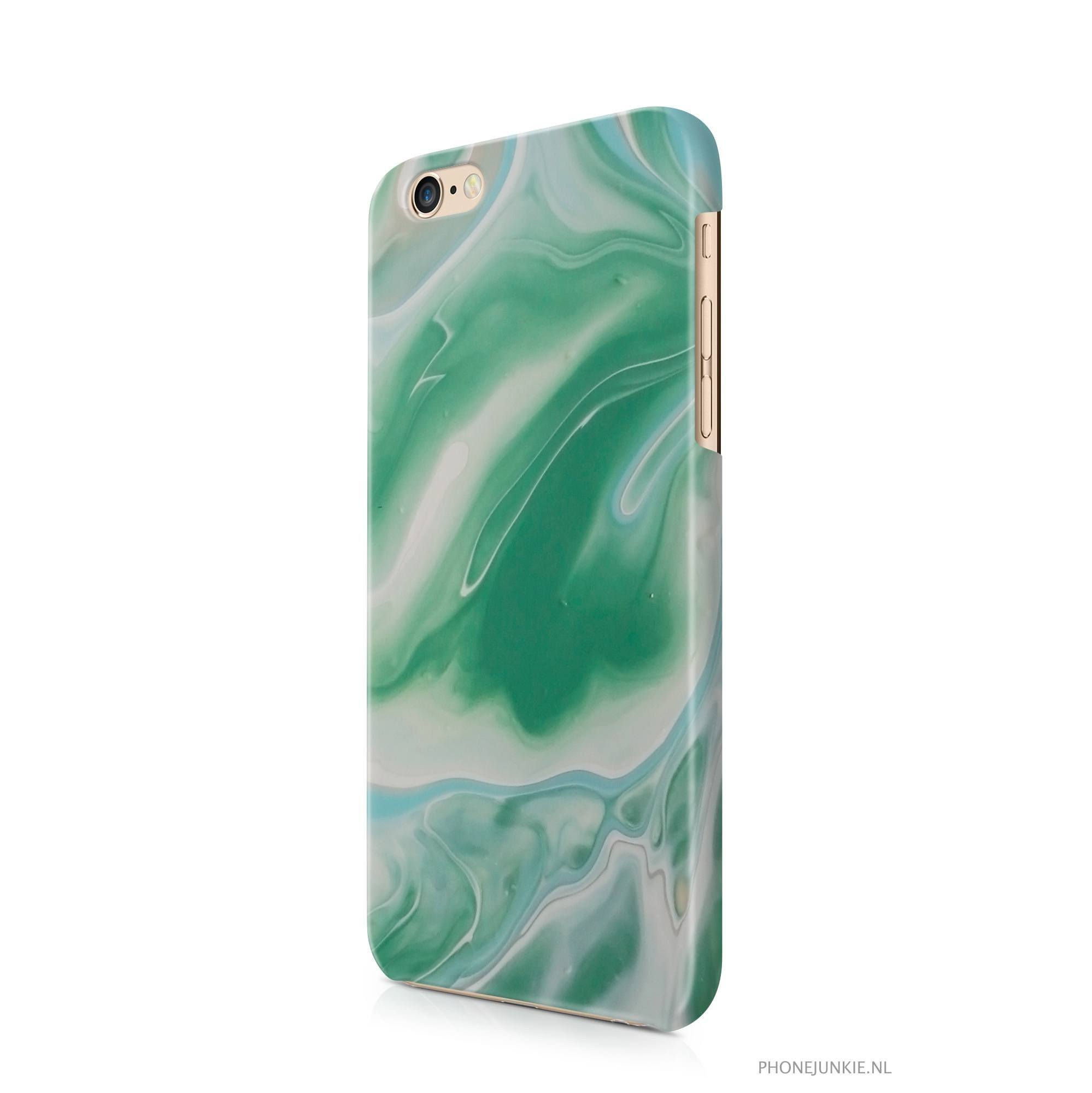 iPhone 6/6s hoesje - Green Nature Marble - PhoneJunkie