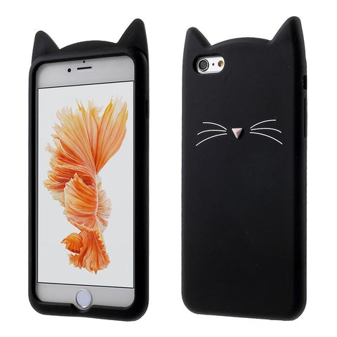 iPhone 6/6s hoesje - Black Cat Siliconen