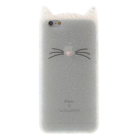 iPhone 6/6s hoesje - Glitter Cat Siliconen