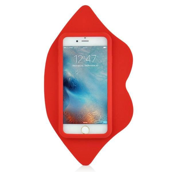 iPhone 6/6s - Big Red Lips Hoesje - PhoneJunkie - telefoonhoesje - naamhoesje - personaliseren