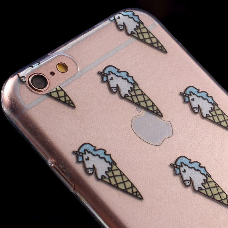 iPhone 6/6s hoesje - Unicorn Icecream transparant - PhoneJunkie - telefoonhoesje - naamhoesje - personaliseren