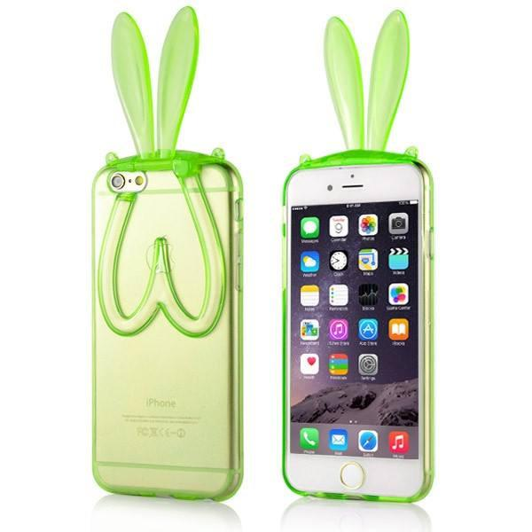iPhone 6/6S hoesje - Bunny Ears Green - PhoneJunkie