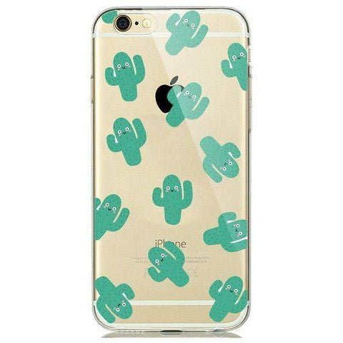 iPhone 6/6s hoesje - Cactus transparant - PhoneJunkie