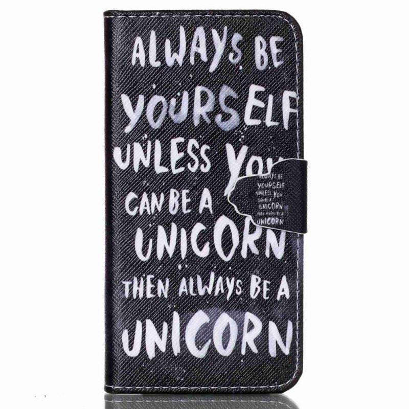 iPhone 6/6s hoesje - Unicorn Quote Fliphoesje - PhoneJunkie