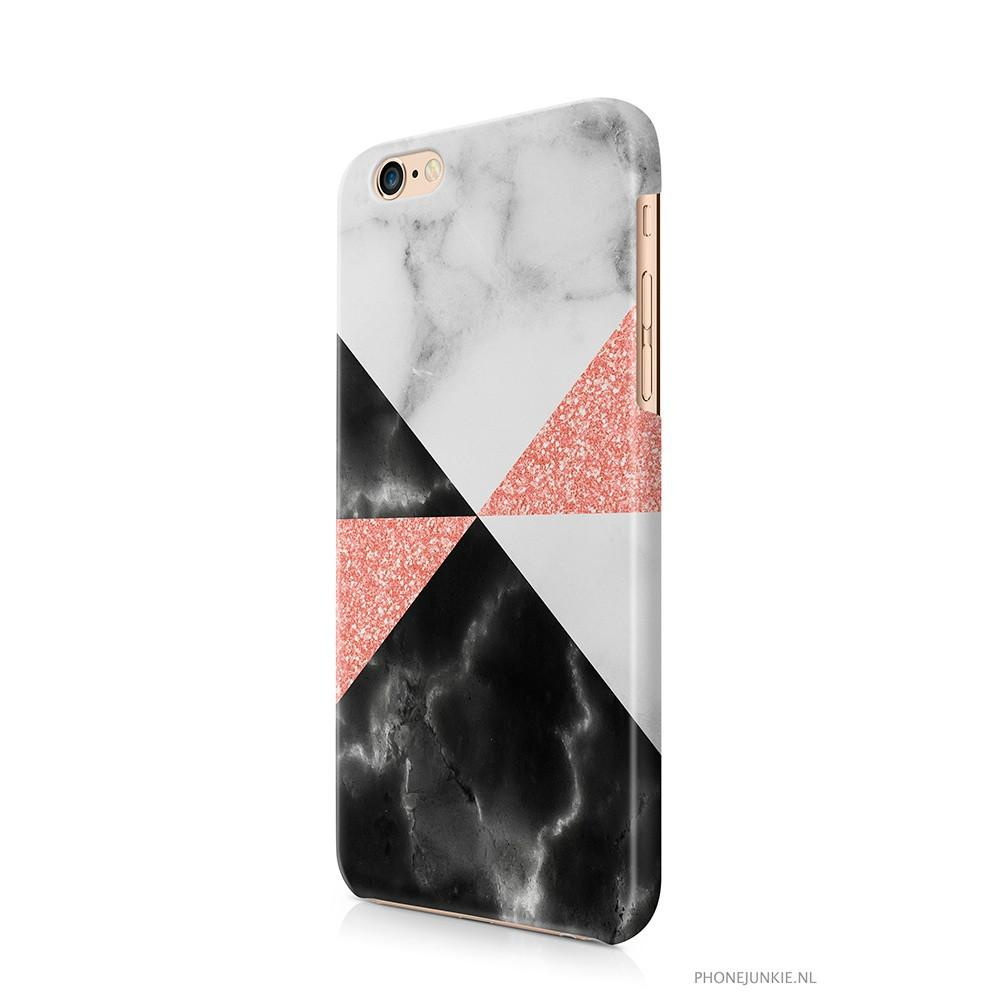 iPhone 6/6s hoesje -  Marble Rosé Mix