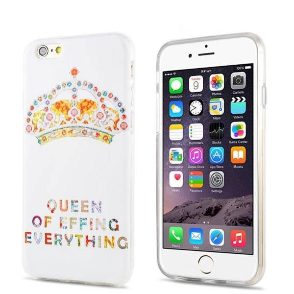 iPhone 6/6s Plus - Queen of Everything gelhoesje - PhoneJunkie - telefoonhoesje - naamhoesje - personaliseren