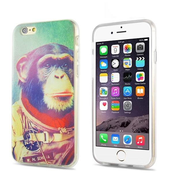 iPhone 6/6s Plus - Space Monkey gelhoesje - PhoneJunkie