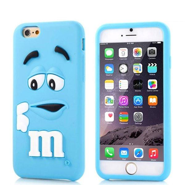 iPhone 6/6s Plus - Blauw M&M hoesje - PhoneJunkie