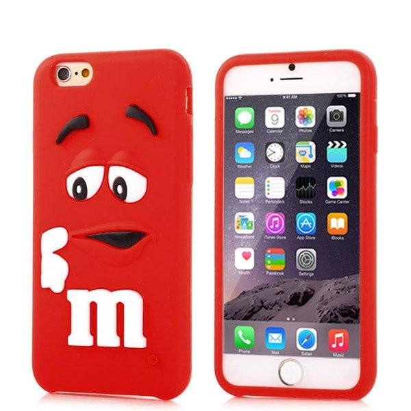 iPhone 6/6s Plus - Rood M&M hoesje - PhoneJunkie