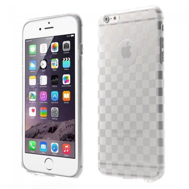 iPhone 6/6s Plus - Checks transparant gelhoesje - PhoneJunkie - telefoonhoesje - naamhoesje - personaliseren