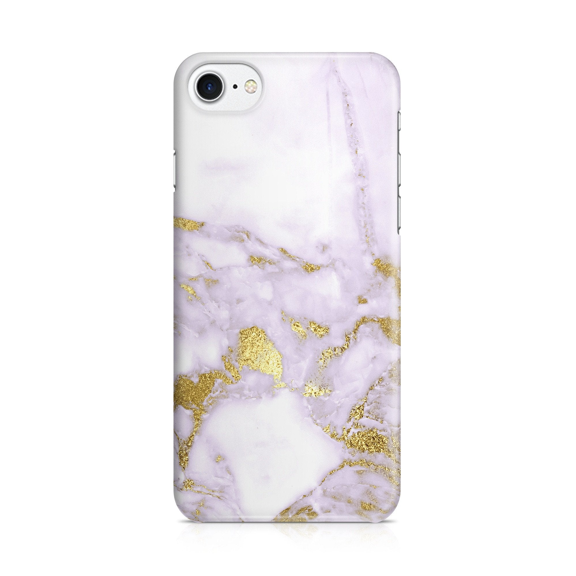 iPhone 7 hoesje - Purple Gold Marble