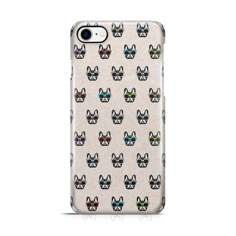iPhone 7/8 hoesje - Hipster Frenchie - PhoneJunkie