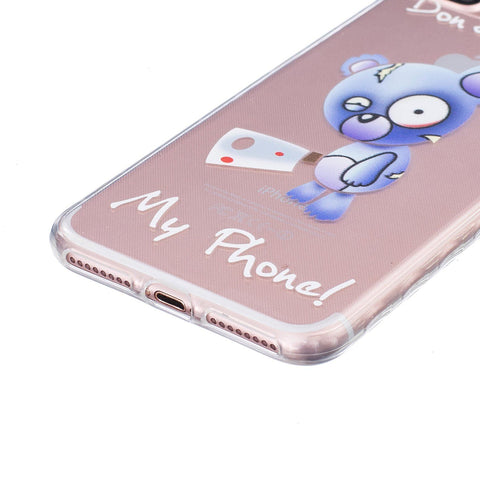 iPhone 7 Plus / 8 Plus hoesje - Dont' Touch My Phone transparant hoesje