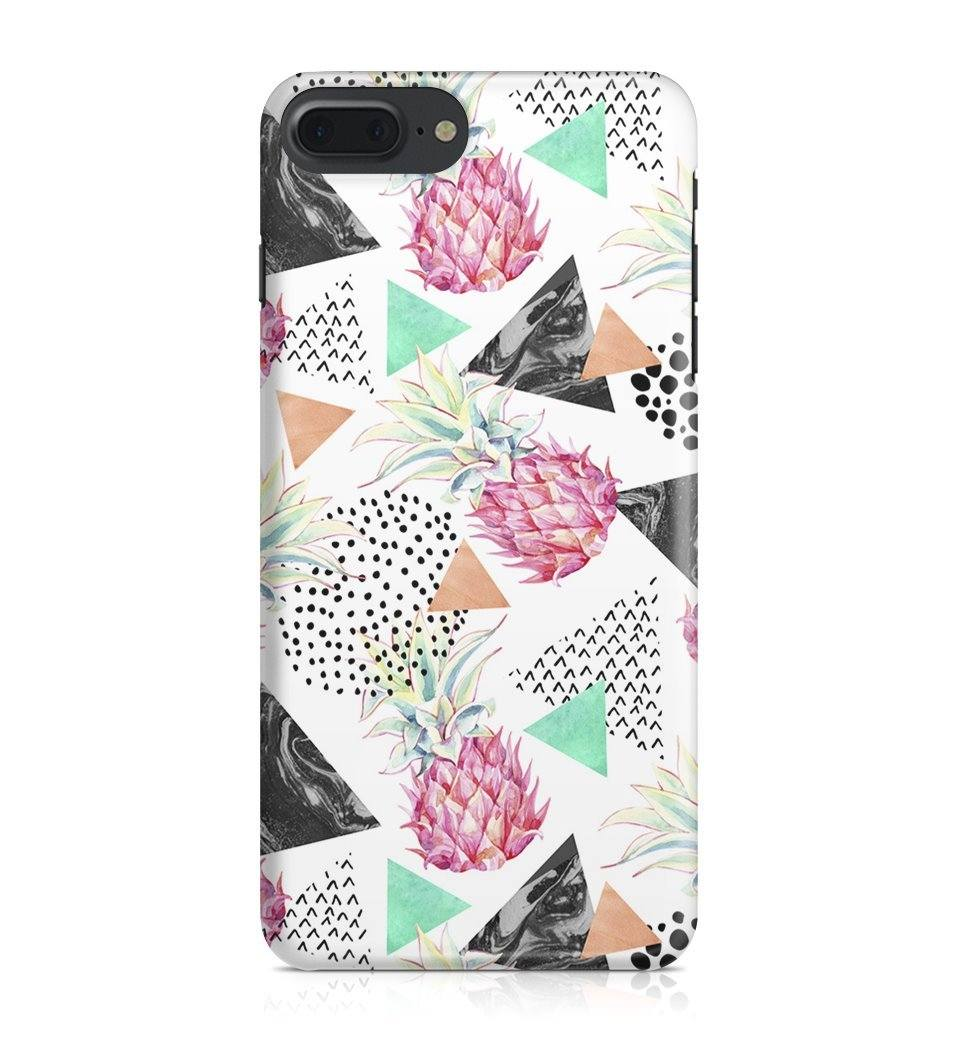 iPhone 7 Plus hoesje - Pink Pineapple Art - PhoneJunkie - telefoonhoesje - naamhoesje - personaliseren
