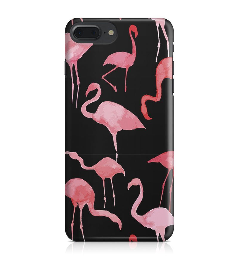 iPhone 7 Plus hoesje - Black Flamingos - PhoneJunkie - telefoonhoesje - naamhoesje - personaliseren
