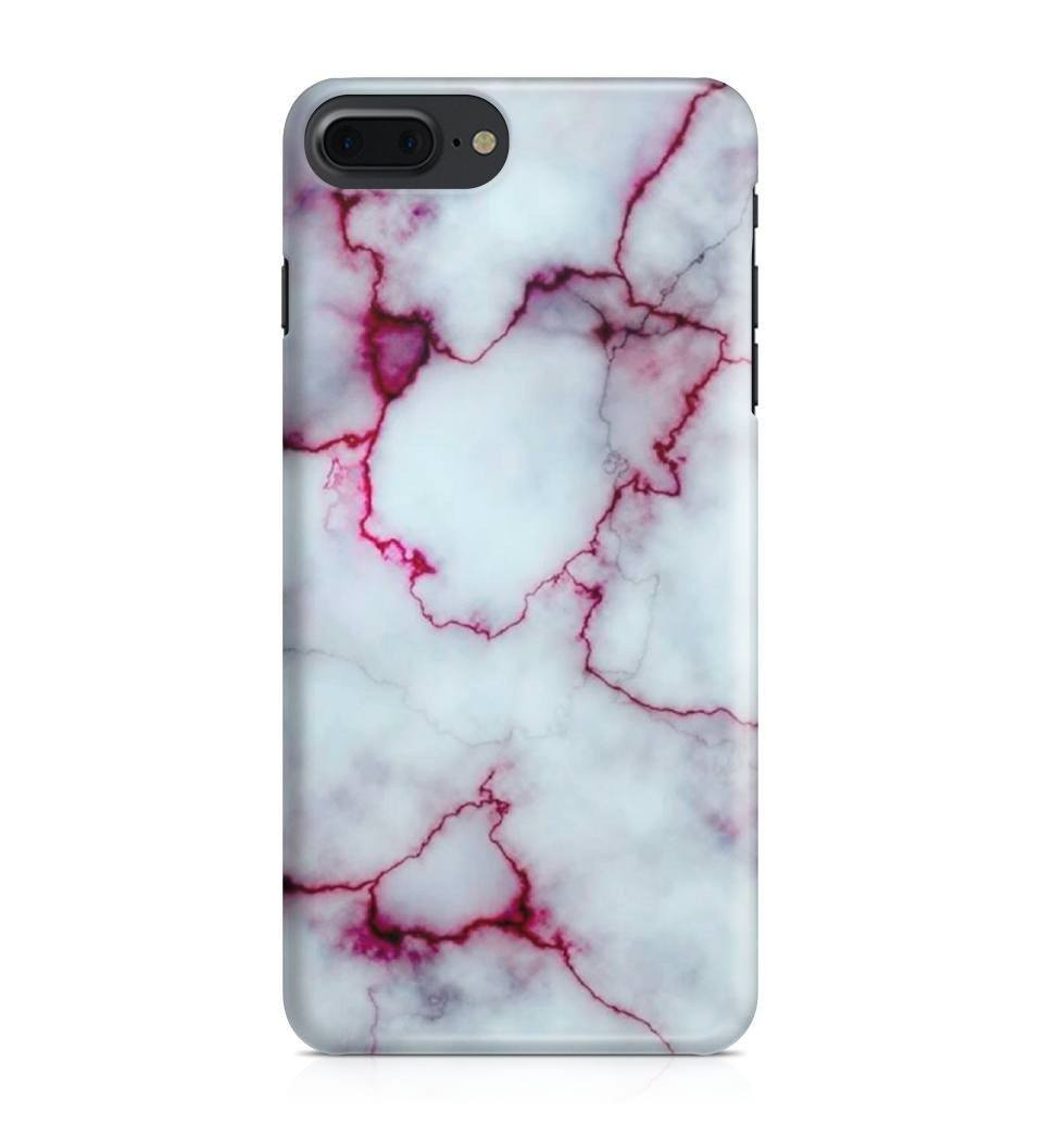 iPhone 7 Plus hoesje - RedPurple Marble - PhoneJunkie