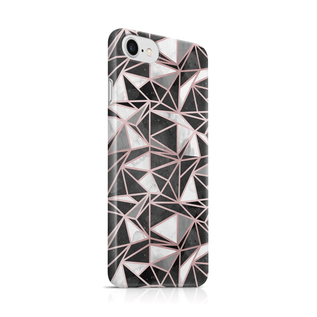 iPhone 7 hoesje - Funky Marble Roségold - PhoneJunkie
