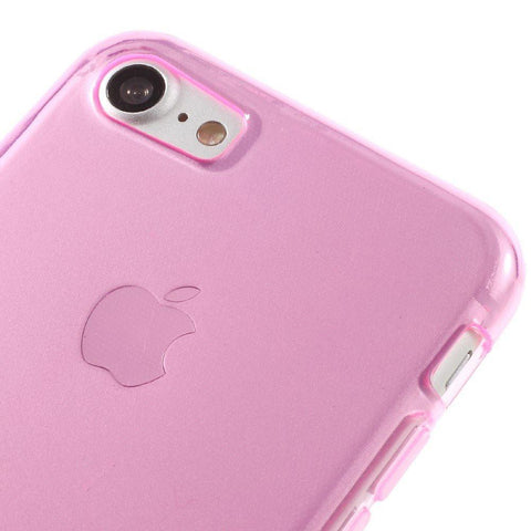 iPhone 7 - Transparant Roze gelhoesje
