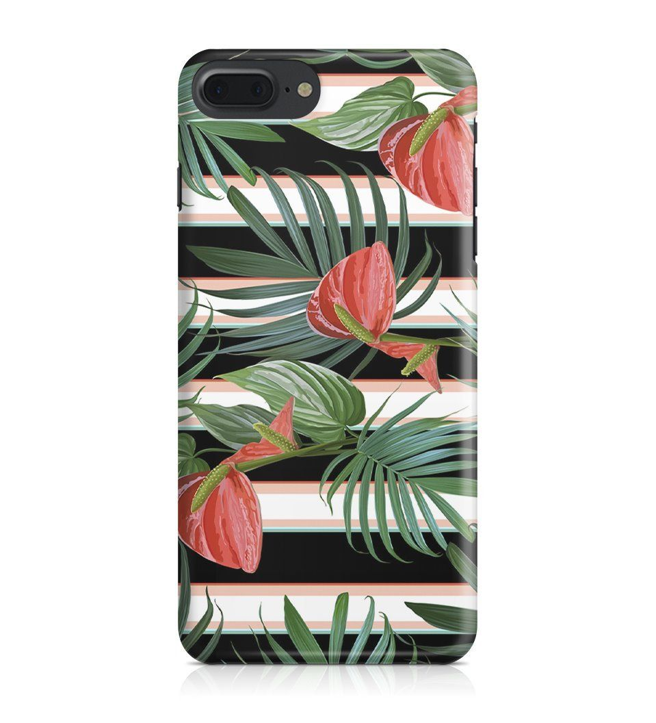 iPhone 7 Plus / iPhone 8 Plus hoesje - Sunny Flowers - PhoneJunkie - telefoonhoesje - naamhoesje - personaliseren