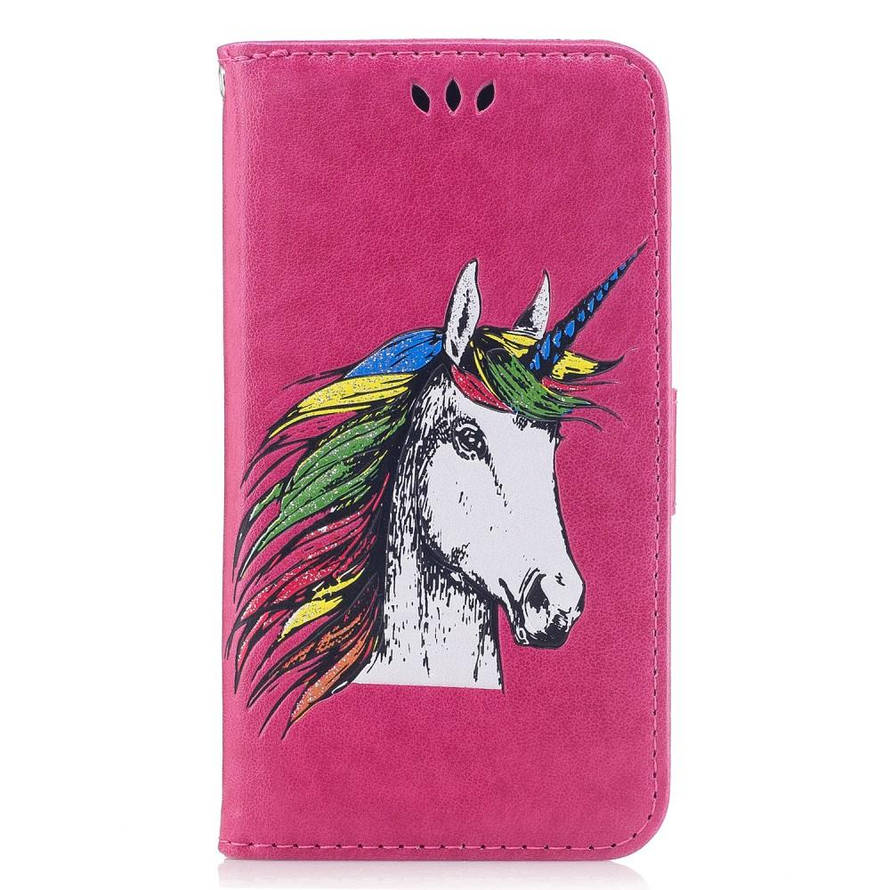 iPhone 7 / 8 hoesje - Unicorn Roze Fliphoesje - PhoneJunkie