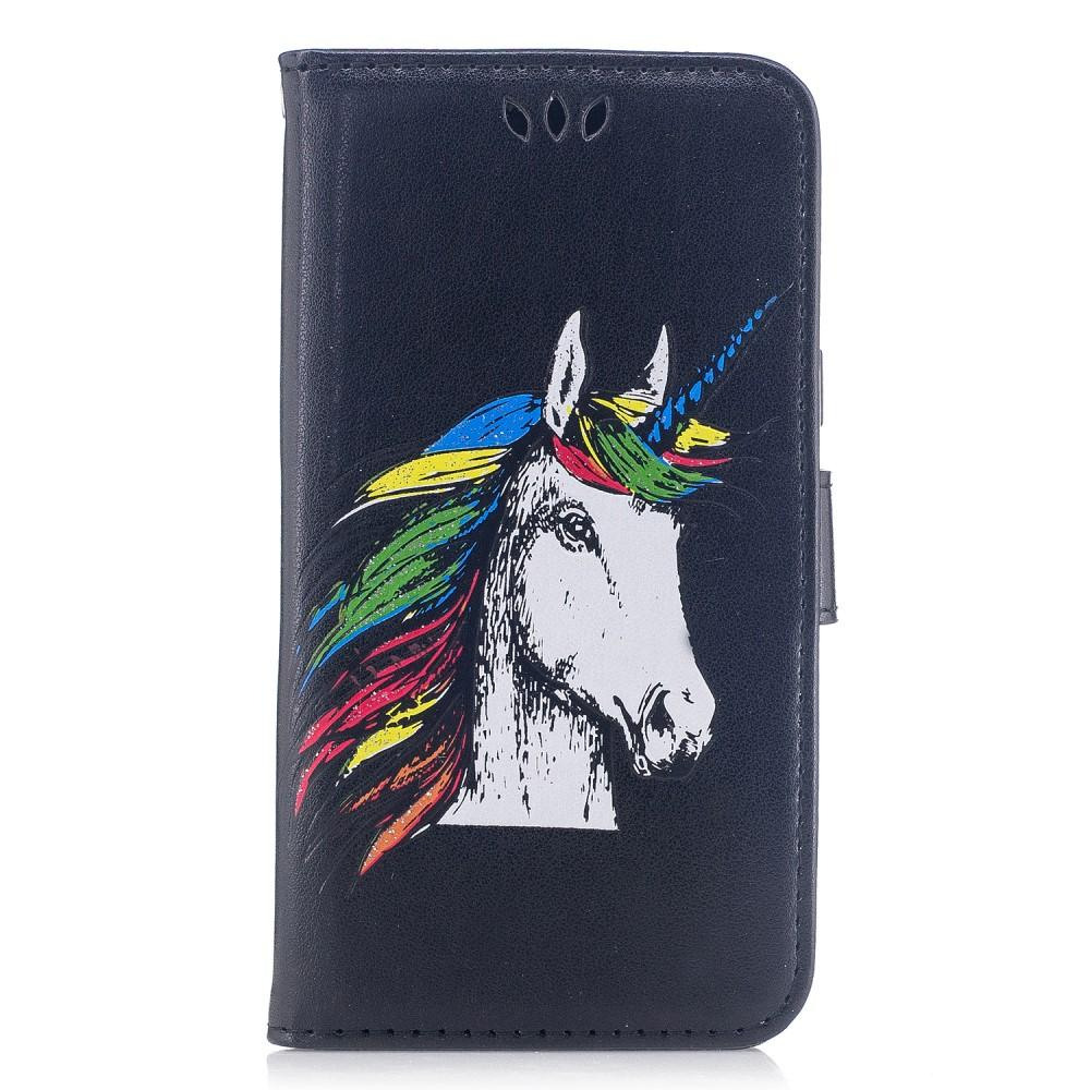 iPhone 7 / 8 hoesje - Unicorn Black Fliphoesje - PhoneJunkie