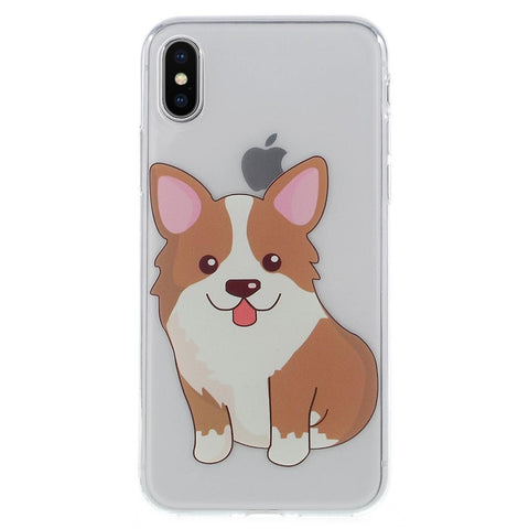 iPhone X - Corgi hondje transparant