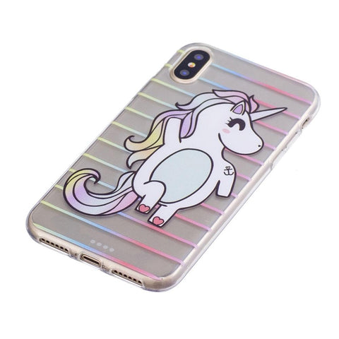 iPhone X - Unicorn transparant