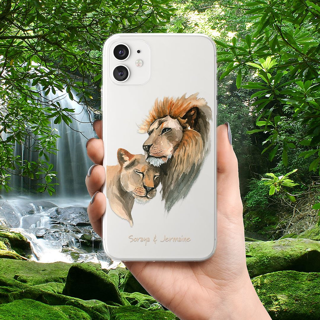 King & Queen of the Jungle - Transparant Naamhoesje - PhoneJunkie - telefoonhoesje - naamhoesje - personaliseren