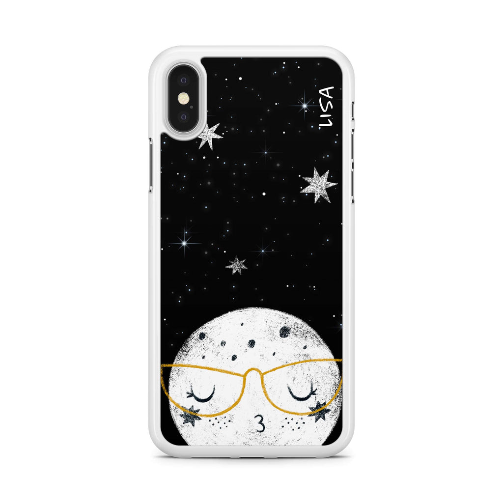 Adorable Moon - Custom naam hoesje