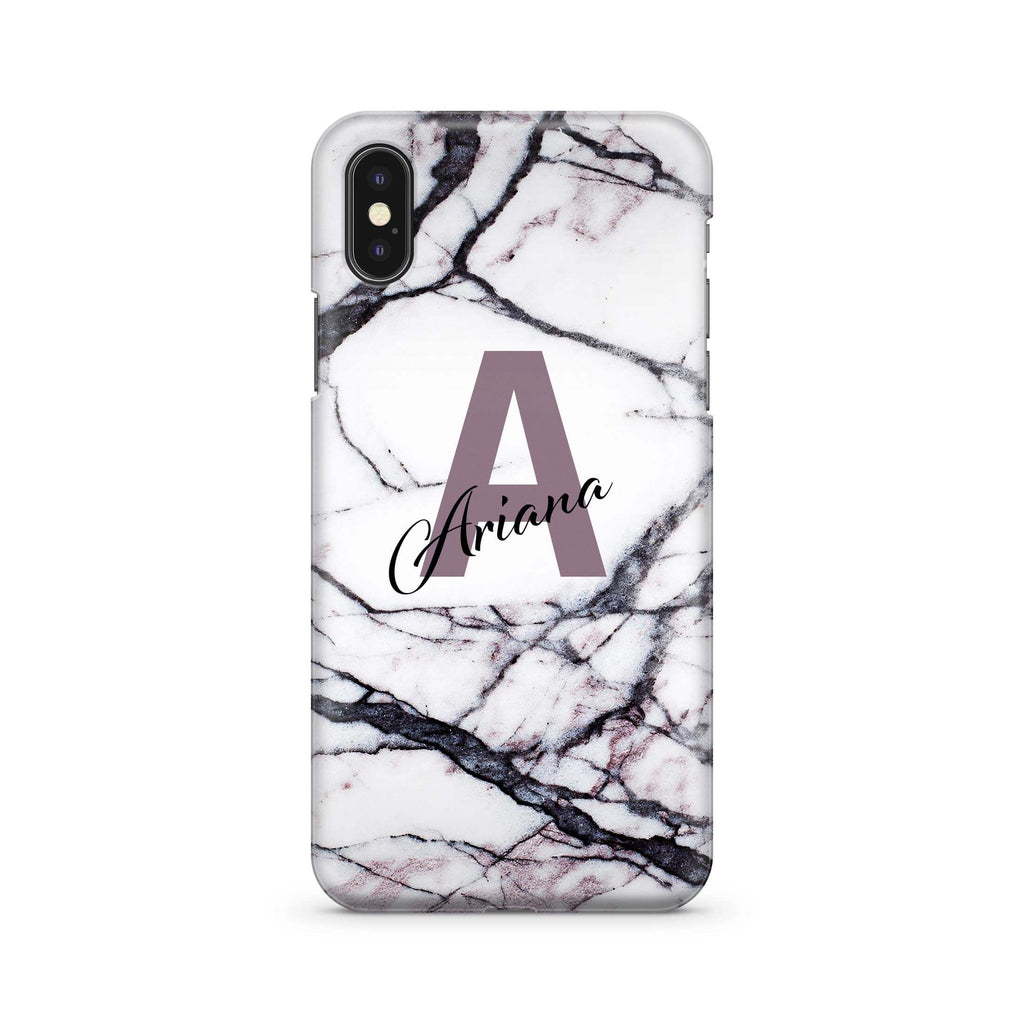 Marble Purple Monogram - Wrap Naamhoesje - PhoneJunkie