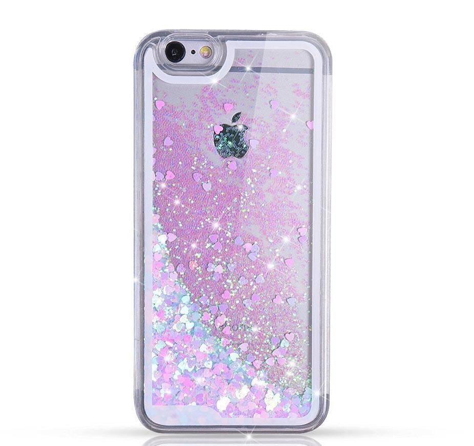 Glitter Waterfall hoesje Hearts - PhoneJunkie