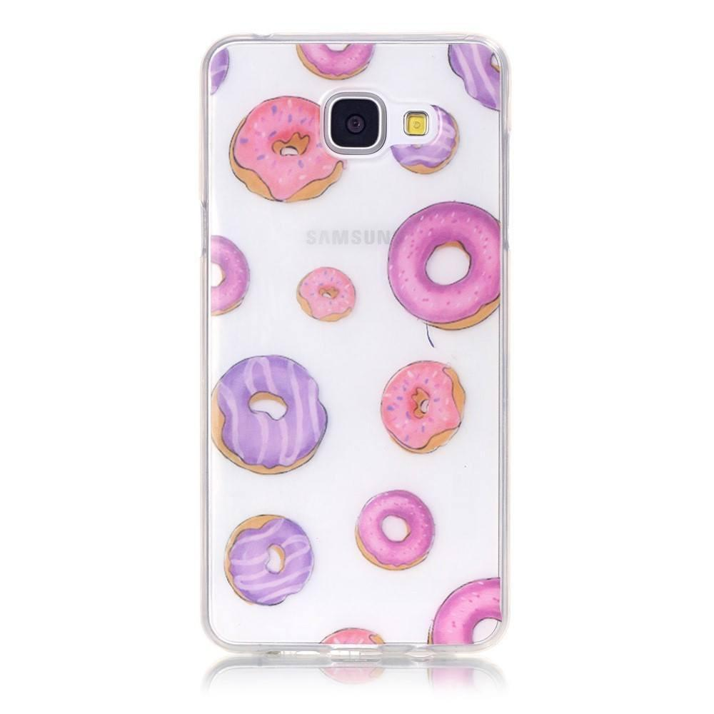 Samsung Galaxy A5 2016 - Pink Donuts Transparant gelhoesje
