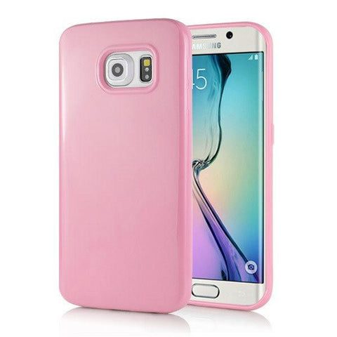 Samsung Galaxy S6 Edge - Pink Candy gelhoesje - PhoneJunkie