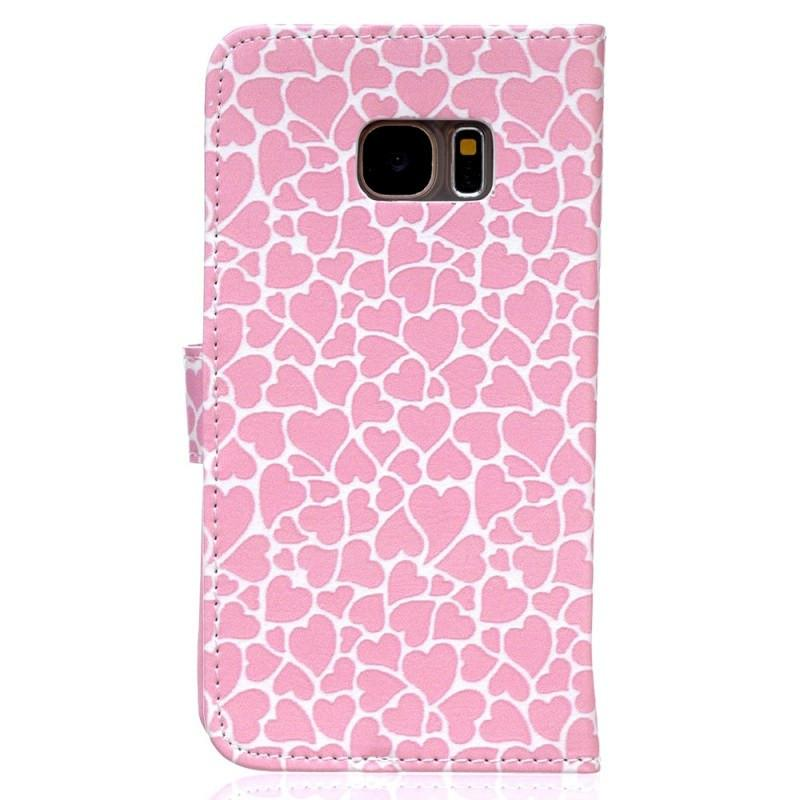 Samsung Galaxy S7 - Pink Hearts fliphoesje - PhoneJunkie