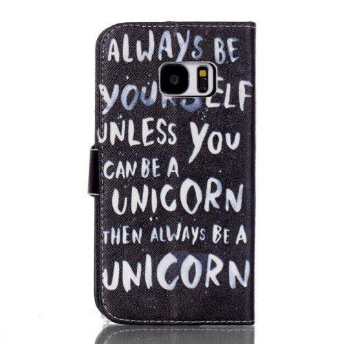 Samsung Galaxy S7 - Unicorn Quote fliphoesje - PhoneJunkie